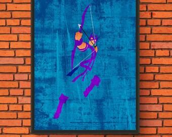 Minimalism Art - Hawkeye Print