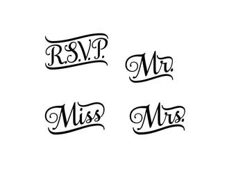 Wedding Vinyl Decal Etsy - Custom vinyl decals minnesota