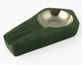 Canadian Nephrite Jade Ashtray, Cigar