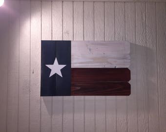 Handmade Rustic Texas Flag