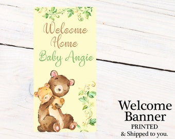Welcome Home Baby Door Banner  ~ Personalized Baby Bear Party Banner, Mama Bear Welcome Banner, Welcome Home Baby Banner