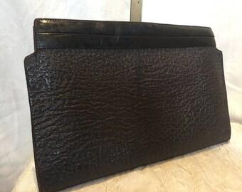 1940s brown Waldybag clutch bag