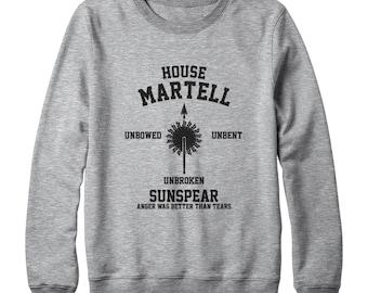 House Martell Shirt Game of Thrones Shirt Graphic Tee Shirt Tumblr Tshirt Game Of Thrones Sweatshirt Oversized Women Sweatshirt Men Sweater