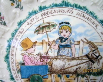 Kate Greenaway Capricorn Plate. Royal Doulton 1977