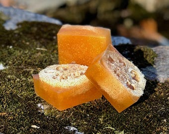 Golden Embargo Triple Butter Luffah Soap for Skin Brushing -Vegan