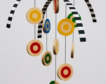 Modern Wooden Hanging Mobile for children, baby, nursery, home decor, baby shower