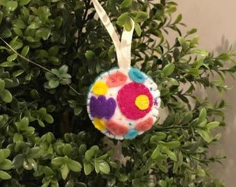 Handmade Felt Cell Ornament
