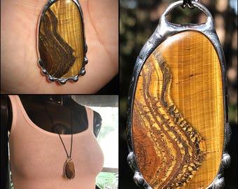 Golden Tiger eye necklace