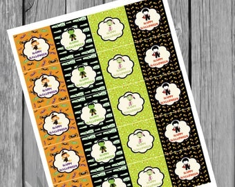 halloween favor tags  instant download u print as many as u need 2 x 2 inches