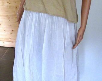 Petticoat white cotton ball
