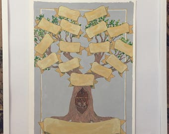 Family Tree Original Painting Gift