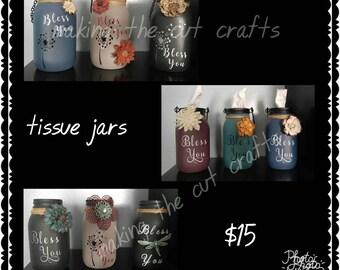 Tissue Jars - Bless You