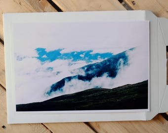 Cloudy Morning over Mount Washington, New Hampshire, 35mm photo print