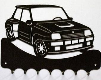 Hangs 26 cm pattern metal keys: car Renault R5 turbo 2
