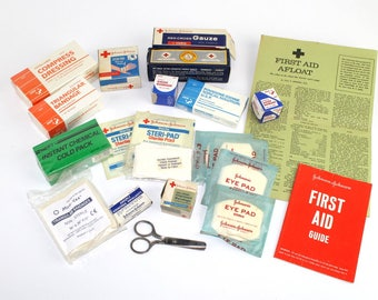 Vintage First Aid Supplies Collection Vintage Medical Supplies Mixed Years