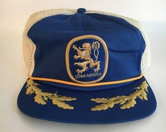 Vintage Lowenbrau Beer Trucker Hat