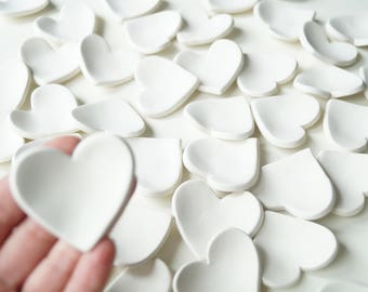 50x Wedding Favors, cheap favours,  Guest Favors, White Hearts, Set of 50, Ready to Ship