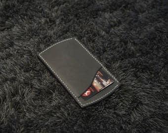leather minimalist cardholder / wallet