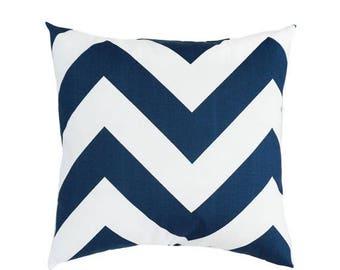Navy throw pillow Etsy