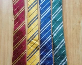 Harry Potter Ties, Slytherin, Gryffindor, Ravenclaw, Hufflepuff, Potterhead Tie