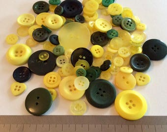 Mix of 100 buttons of various sizes (Ref.MIX40)