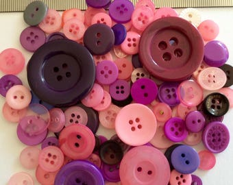 Mix of 100 buttons of various sizes (Ref.MIX47/2)