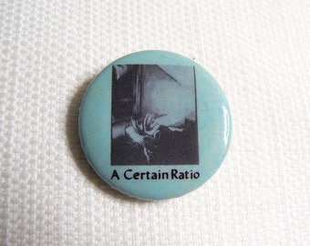 Vintage 80s A Certain Ratio - English Post Punk- Factory Records - The Double 12 Inch Album Pin / Button / Badge