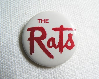 Vintage 80s - Boomtown Rats - Red and White Logo Pin / Button / Badge
