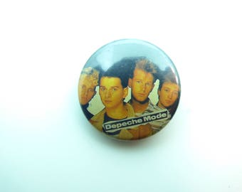 Vintage Early 80s Depeche Mode / Band Photo - Pin / Button / Badge