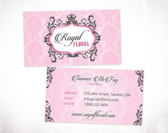 Premade Business Card Design • Royal Floral