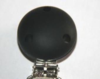 Pacifier silicone clip Black