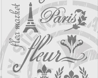 French Mix Paris Stencil #745