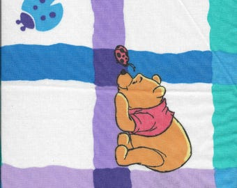"New Winnie the Pooh and Tigger on White 100% Cotton Fabric 39"" x 19"" Piece"