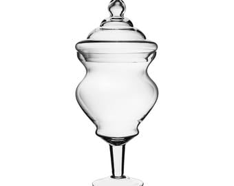Glass Apothecary Jar Candy Buffet Jar with Curvy Shape #GAJ127