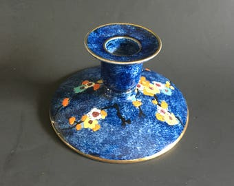 Grimwades Rideau Ware Hand Painted Candle Holder Made for Henry Birks & Sons Montreal