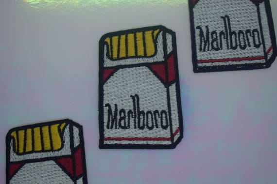 Marlboro Cigarettes  Iron on Patch