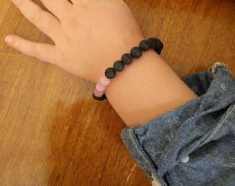 Child's Diffuser Bracelet, Essential Oil Bracelet for Kids, Lava Rock Diffuser Bracelet, Children's Diffuser Jewelry, Aromatherapy Jewelry