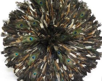 Aka authentique - coiffe de plumes de décoration murale