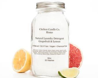 1L Grapefruit & Lemon Natural Laundry Detergent