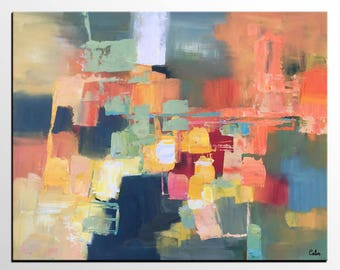 Large Abstract Painting, Canvas Art, Contemporary Painting, Living Room Wall Art, Ready to Hang Painting, Large Canvas Painting, Impasto Art