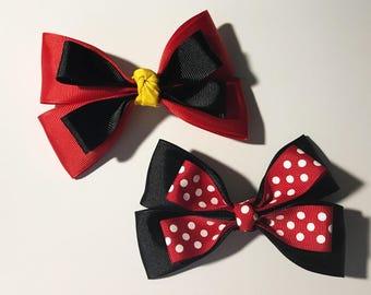 Hair Bow: Mickey & Minnie