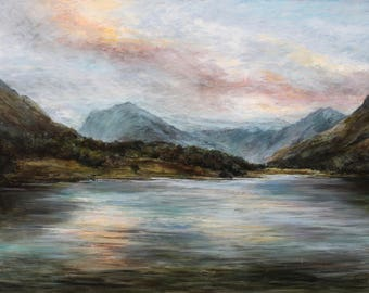 Buttermere in the evening Lake District Signed Limited Edition Artist's Print