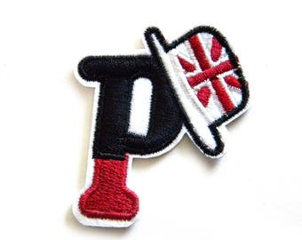 Letter P Union Jack British Embroidered Patch Appliqué