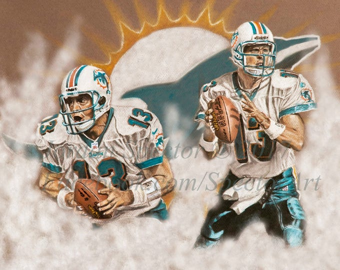 """Dan Marino """"Dolphins Legend"""" Limited Edition art print - 20x24 inches"""