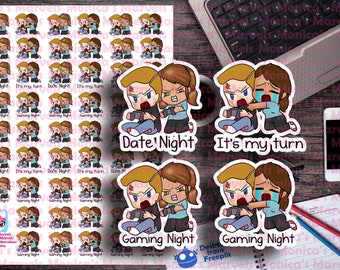 Chibi Carla and Chad - Gamer Night