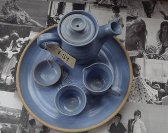 Alford pottery teapot set 5 pieces made in Lincolnshire