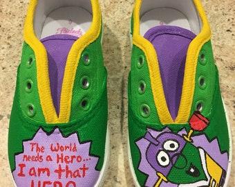 Custom veggie tales shoes