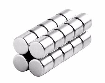 5/16 x 5/16 inch (7.94 x 7.94 mm) Neodymium Rare Earth Cylinder Magnets N48 (20 Pack)