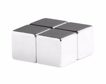 1/2 x 1/2 x 1/2 Inch (12.7 x 12.7 x 12.7 mm) Neodymium Rare Earth Cube Magnets N48 (4 Pack)