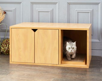 Eco Friendly Cat Litter Box   Natural Cat Furniture   VOC And Toxin Free    LIFETIME
